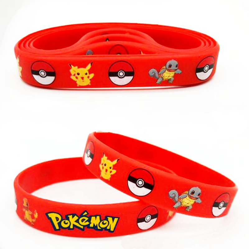 Birthday Party Favors ~ Pikachu Pokemon Silicone Bracelets and//or Balloons!