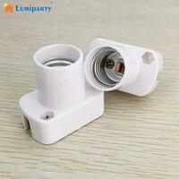 LumiParty soporte de lámpara cuadrada blanca de alta calidad para bombillas LED E17 Base de luz de prueba de envejecimiento