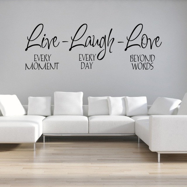 Aliexpresscom Buy Large Size Live Laugh Love Qtotes Wall Decals - Vinyl wall decals removable