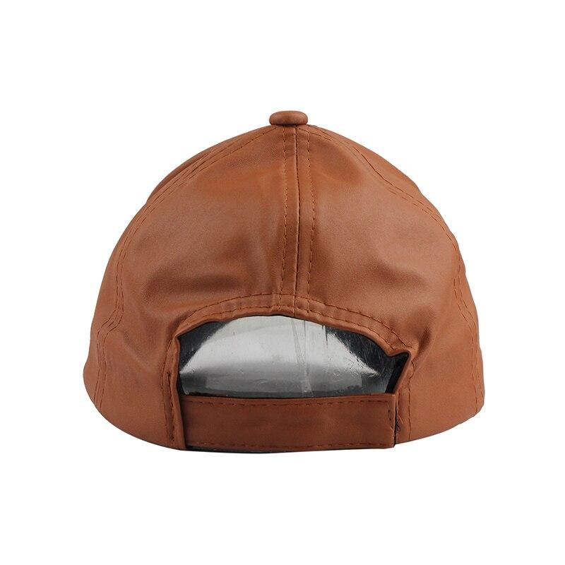 Fetscomprar nueva gorra de cuero de alta calidad Biker camionero gorras PU  Color sólido HIP HOP Snapback gorra de béisbol ajustada sombrero ajustable  2017 ... cd60ed90a16