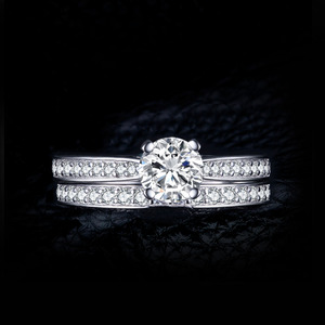 Image 2 - JPalace CZ zestaw pierścionków zaręczynowych 925 srebro pierścionki dla kobiet rocznica obrączki obrączki zestawy ślubne srebro 925 biżuteria