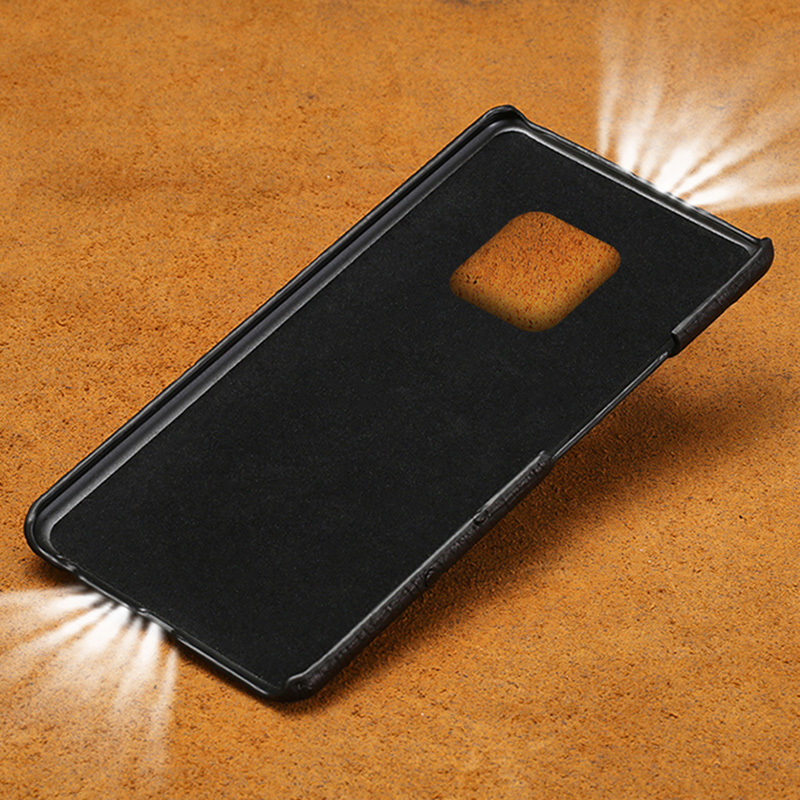 Case For Huawei P20 P30 Lite Mate 10 20 lite Pro Y6 Y9 P Smart 2019 Case Natural Ostrich Skin Cover For Honor 7X 7A 8X 9 10 lite in Half wrapped Cases from Cellphones Telecommunications