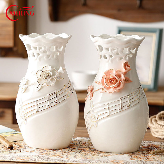 interesting white ceramic vases. Unique White Pink Flower Hollow Vase with Music Notes Big Handmade Pottery  Vases Fine Art Ceramics