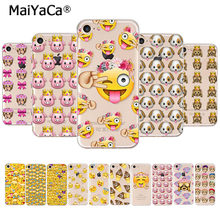 MaiYaCa Hot Net Funny Monkey Emoji New Fashion Luxury phone case for iPhone 8 7 6 6S Plus X 10 5 5S SE XR XS XS MAX mobile cover(China)