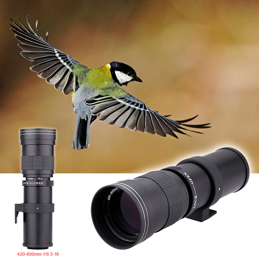 Lightdow 4-800mm F/8.3-16 Super Telephoto Manual Zoom Lens+T2 Adapter ring for Canon EOS Nikon Sony Pentax DSLR Cameras 9