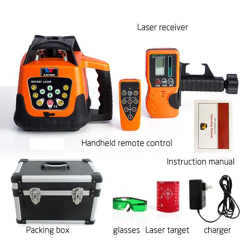 Nouveau LETER entièrement automatique électronique nivellement rotatif laser nivellement instrument infrarouge niveau de lumière verte