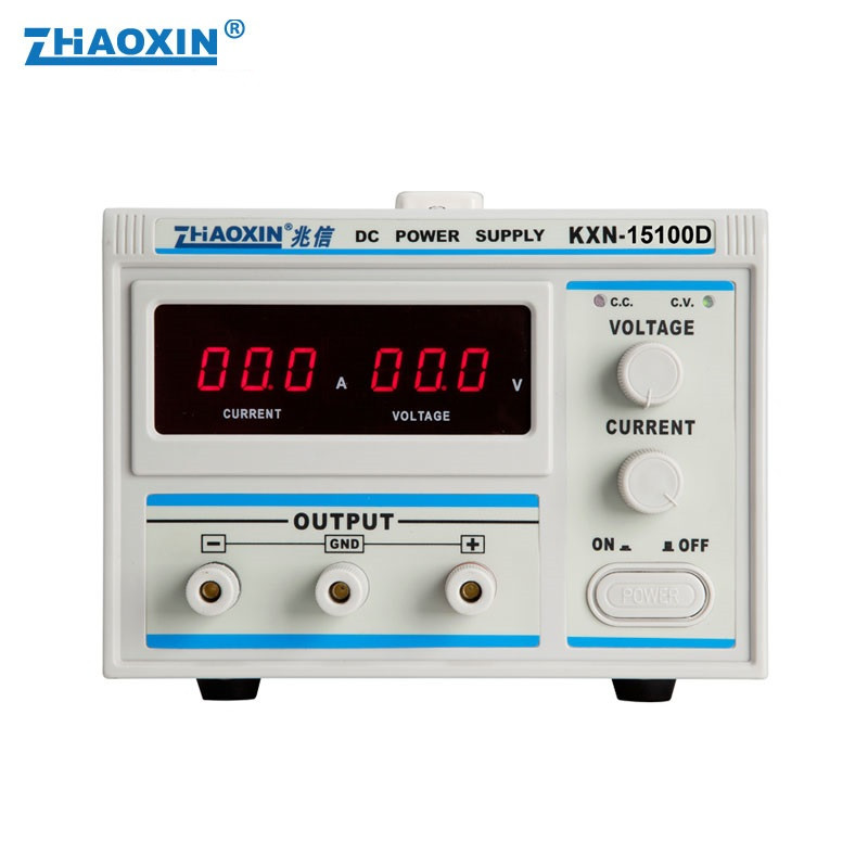 ZHAO XIN KXN-15100D 0-15 v 100A DC à Haute puissance d'alimentation CC réglable DC Vieillissement placage courant constant alimentation