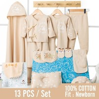 0 3 Months 13Pcs/set Summer Newborn Baby Set 100% Cotton Infant Suit Baby Clothes Gift Box Outfits Suitable For Full moon Babies