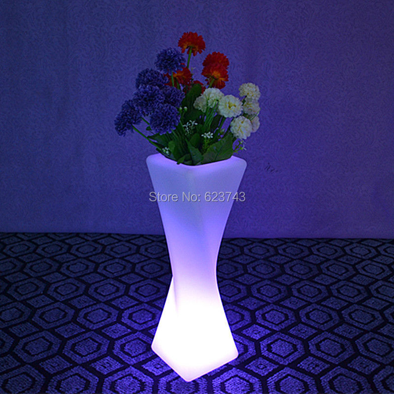 SLONG LIGHT Remote Control Colorful Changeable Led Luminous Flash Flower Pot Of Indoor Illuminated Light Planter Pot