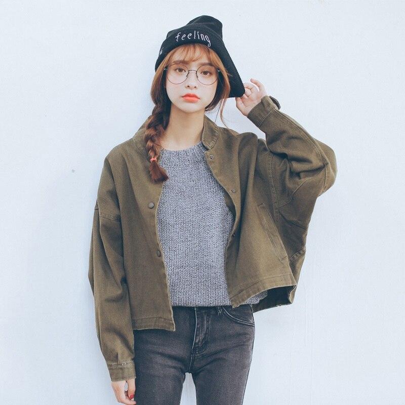 Harajuku   Jacket   Women Fashion Ladies   Basic   Retro Bomber   Jacket   Casual Coat Autumn Slim Fit Outwear 2019 chaqueta mujer T6