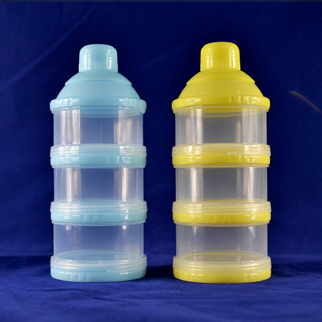 3 Layers Milk Powder Formula Dispenser Travel Baby Infant Feeding Container Storage Food