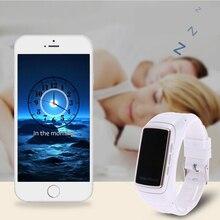0.71 »oled силикона смарт-браслет B7 Bluetooth наушники Стиль монитор сердечного ритма шагомер сигналы тревоги Smart Браслет (белый)