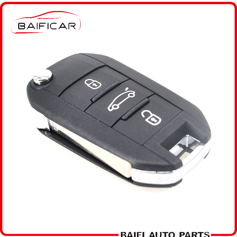 Baificar Genuine 3 Buttons 4A Chip Remote Flip Key Folding Car Key 433MHz HUF8435 For Peugeot