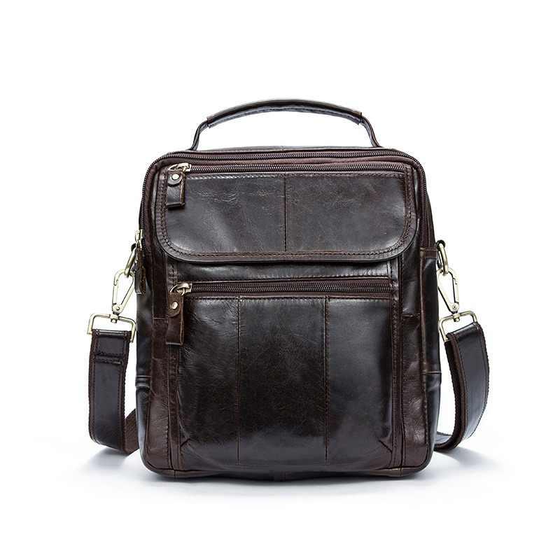 33055422ba25 WESTAL сумка Для мужчин кожа клапаном Для мужчин сумка из натуральной кожи  Crossbody сумки для Для