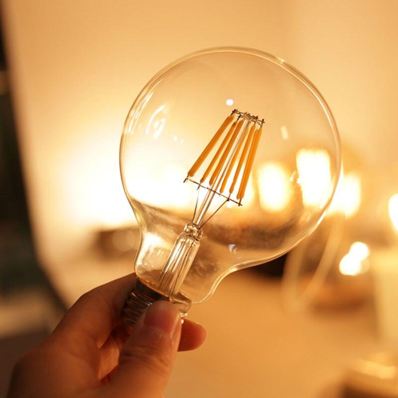 Mabor E27 G80 8W LED Bulb Edison Vintage COB Light Dimmable White/Warmwhite Lampada Bombillas Lamparas Ampoule 5pcs e27 led bulb 2w 4w 6w vintage cold white warm white edison lamp g45 led filament decorative bulb ac 220v 240v