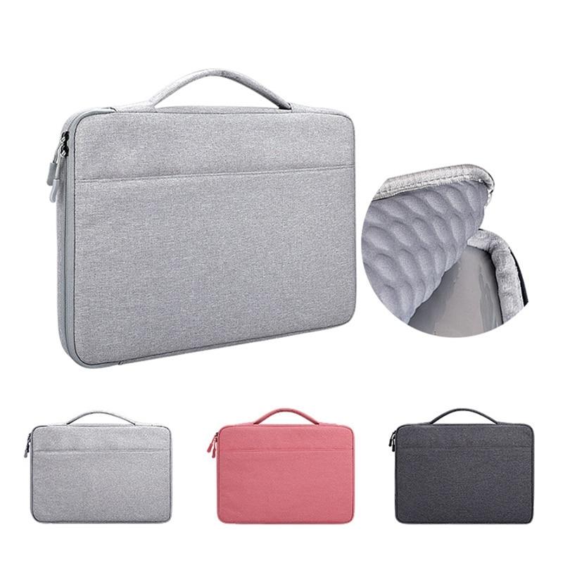 13.3 14.1 15.6 polegada Caso Laptop Laptop Bolsa Notebook Sleeve Bolsa de Transporte Multi-funcional para Macbook Samsung Dell HP