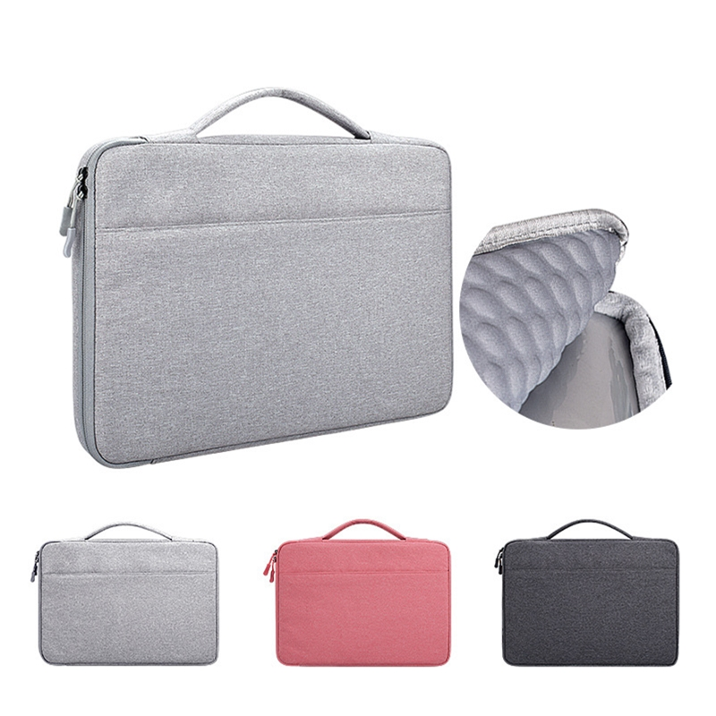 13.3 14.1 15.6 inch Laptop Case Laptop Handbag Multi-functional Notebook Sleeve Carrying Bag for Macbook Samsung Dell HP image