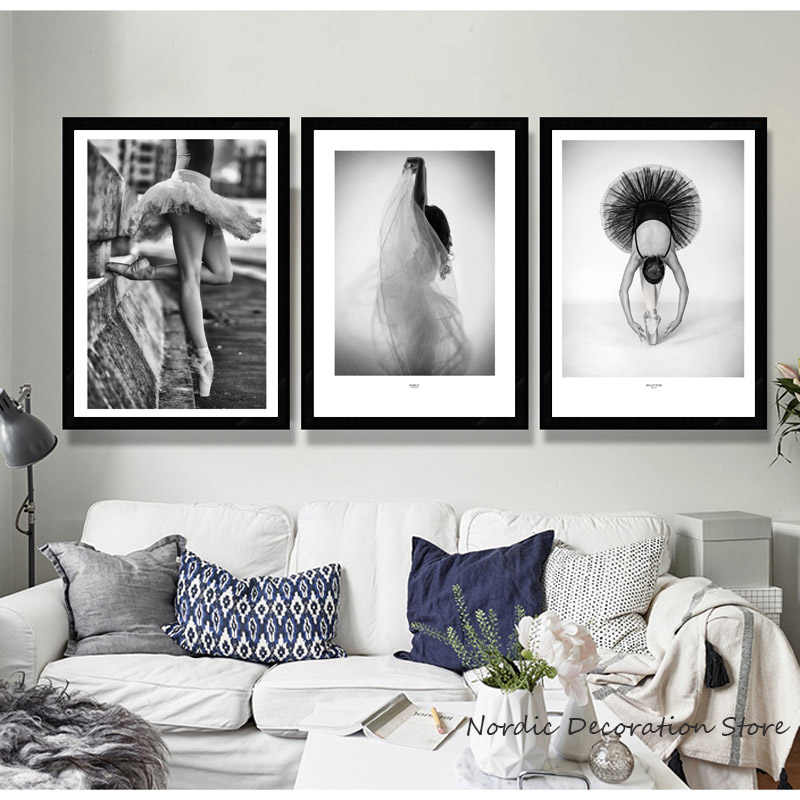 Ballet Poster Black And White Ballerina Poster Dance Canvas Painting Nordic Posters And Prints Wall Art Decoration Home Unframed
