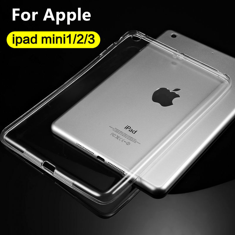 Case TPU For iPad mini 1 2 2 Protective Smart cover Leather For iPad mini3 mini2 Tablet 7.9 Transparent shell Sleeve Protector