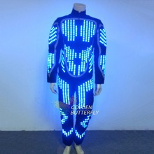 LED/EL Light Clothing Glowing Dance LED Clothes Fashion Luminous Costumes Scintillation Men/Women Stage Performance Dance Suits