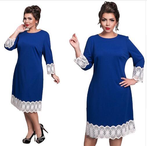 Évider Vintage grande taille femmes robe décontracté nouveau vert genou longueur robes grande taille femmes à manches longues lâche robe