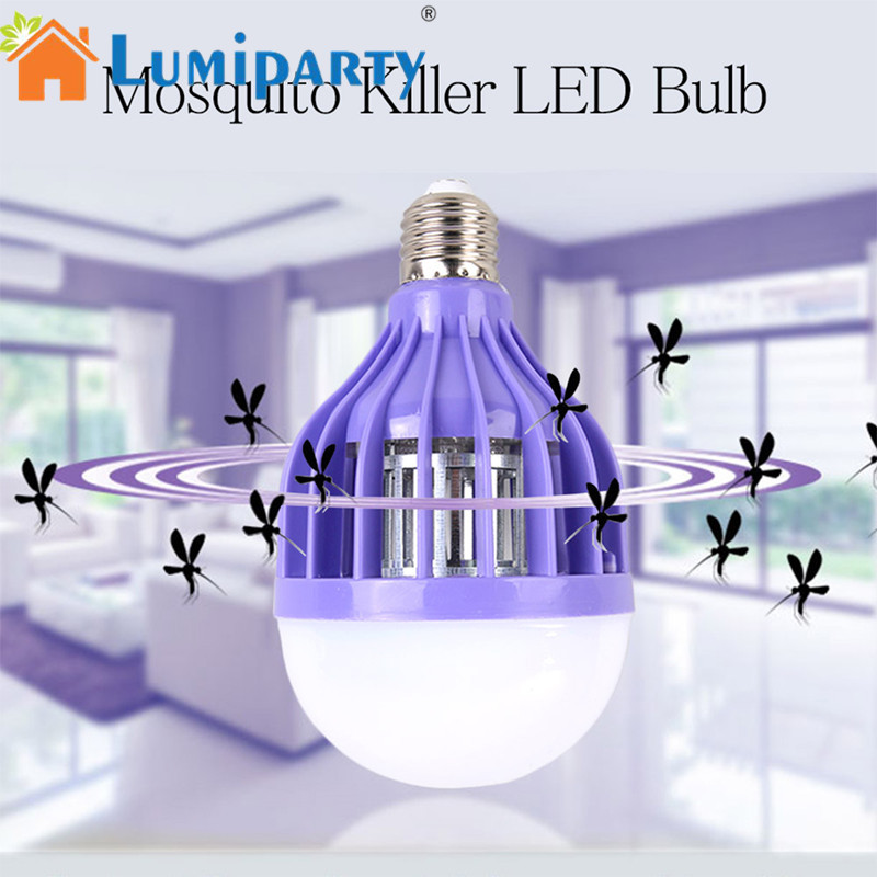 LumiParty E27 B22 Home LED Bulb Safe Mosquito Killing Lamp Energy Saving Flies Trapping Device Led Light Bulb Aquarium