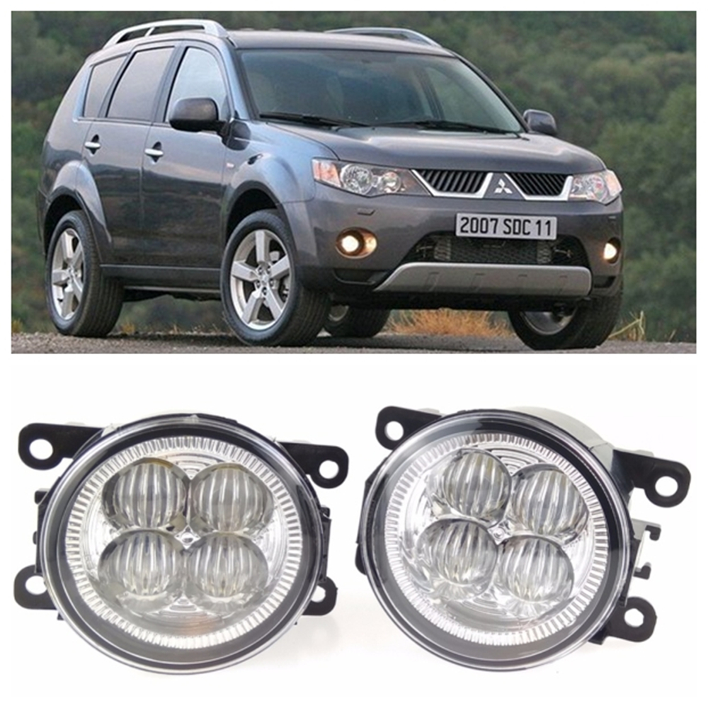 For Mitsubishi OUTLANDER II CW_W  2006-2009  10W High power high brightness LED set lights lens fog lamps seintex 00560 для mitsubishi outlander ii 2006 2012