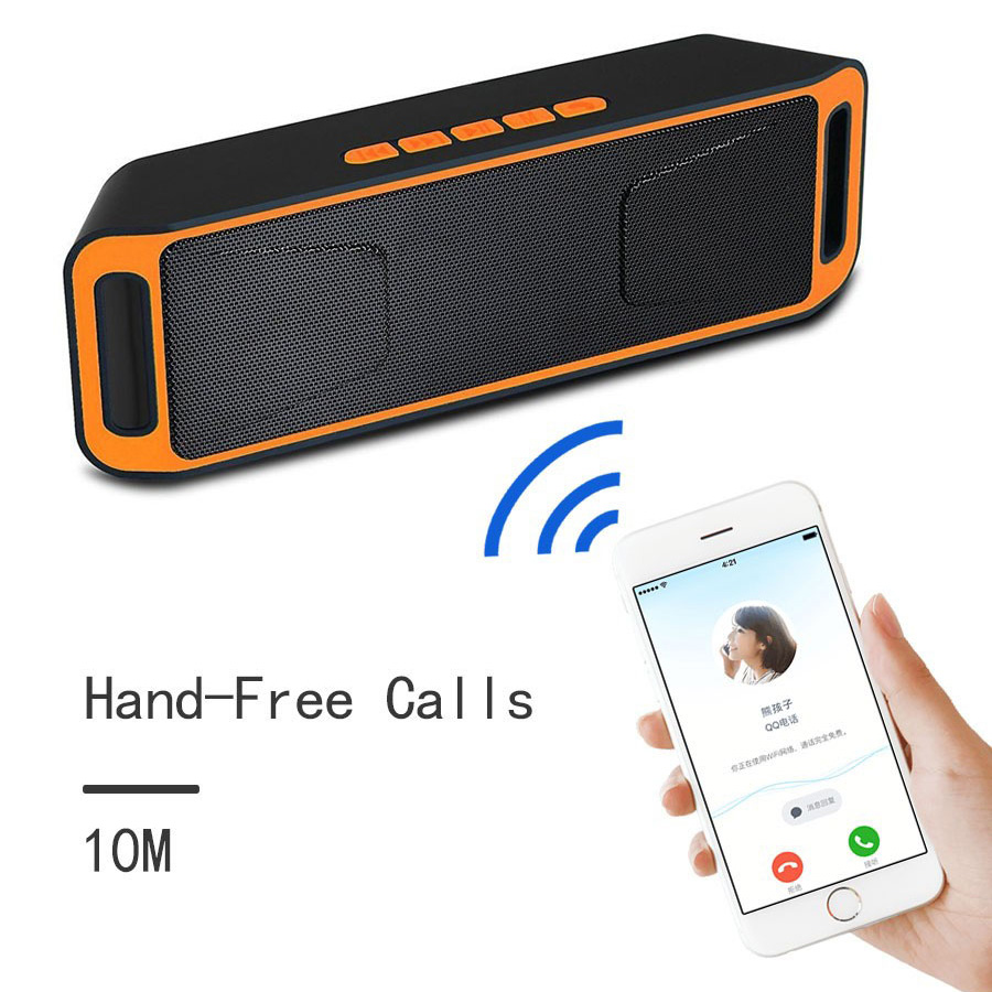 7 SC208-Portable-Outdoor-Bluetooth-Speaker-Column-HD-Stereo-Bass-Wireless-Sound-Box-TF-FM-U-Disk