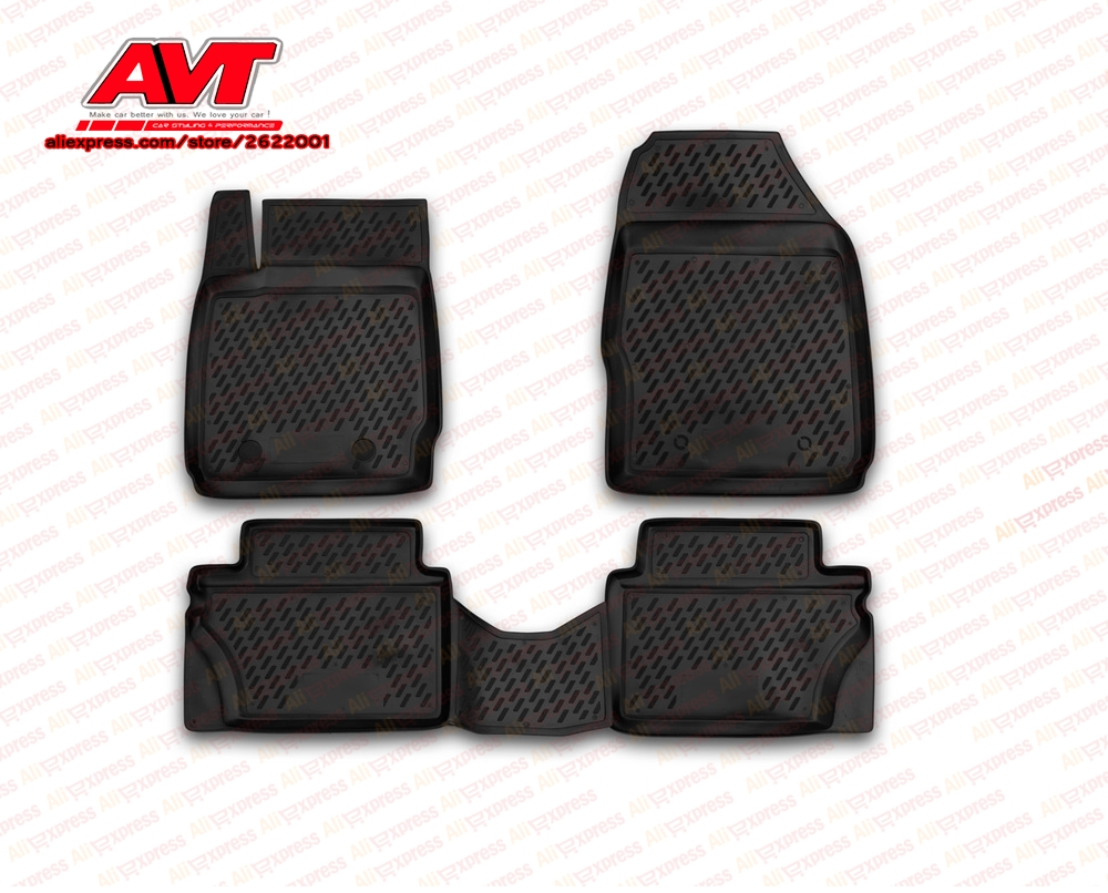 Floor mats case for Ford Fiesta 2008 2011 4 pcs rubber rugs non slip rubber interior car styling accessories|Chromium Styling| |  - title=
