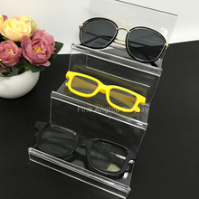 ФОТО Desktop Jewelry Organizer Stand 3 Pair Acrylic Sunglasses Eyeglass Glasses Optical Frame Rack Display Holder Rack