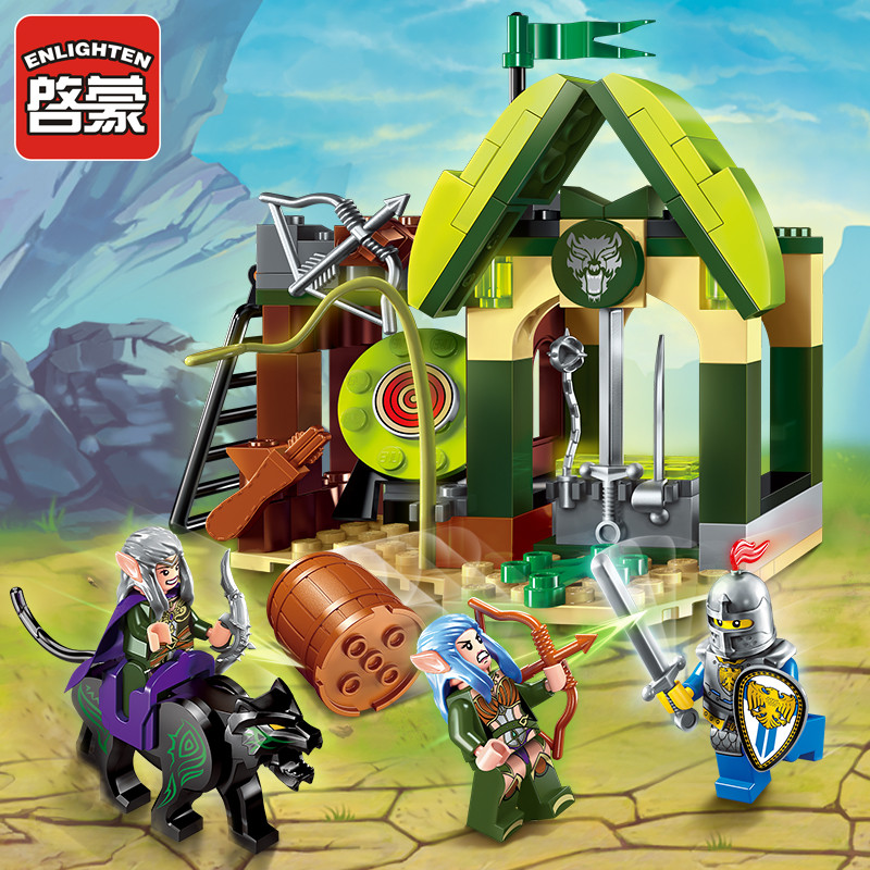 Opplys Glory War Educational Building Blocks Leker For Barn Gaver Castle Knight Våpen Elf Kompatibel Med Legoe