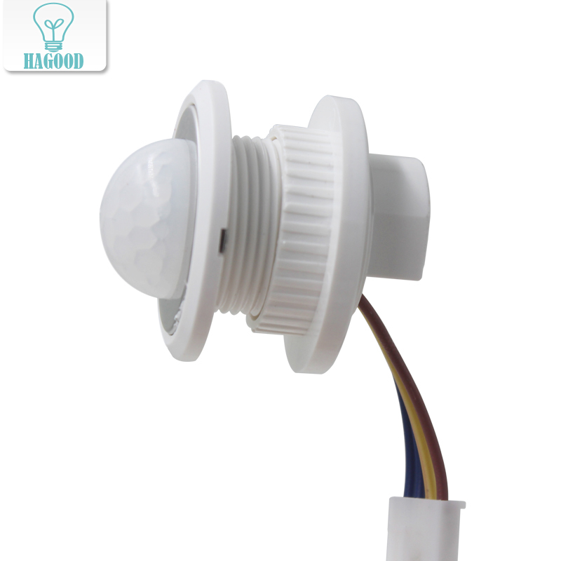 PIR Adjustable Infrared Motion Sensor 40mm Human Body Detector Time Delay Adjustable Switch 110V / 220V For LED Lighting Fixture