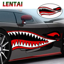 LENTAI 1Pair Car Stickers car body Shark Mouth Styling For Toyota Corolla c-hr Avensis RAV4 Auris Honda Civic Accord Fit CRV(China)