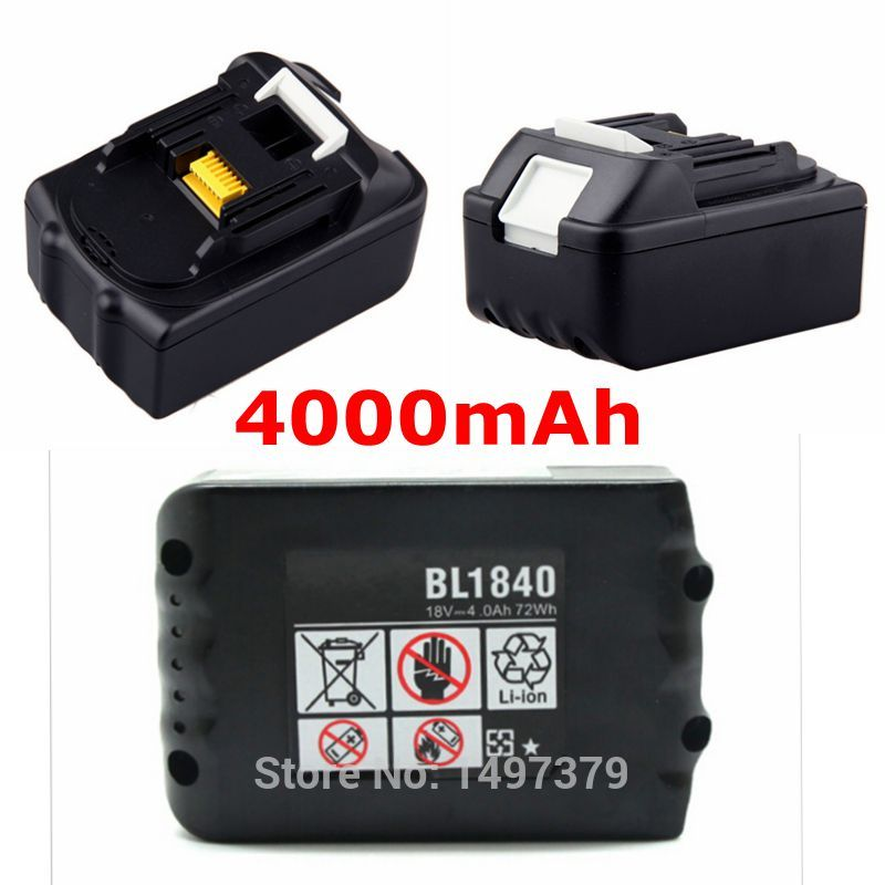 New Replacement Rechargeable Power Tools Batteries for Makita 18V 18 volt 4.0Ah 4000mAh BL1830 BL1840 LXT400 194205-3 wholesale5pcs 18v 2 0ah replacement battery for 18 volt makita 1822 192826 5 192827 3 ni cd red