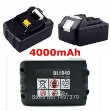 Новая замена Перезаряжаемые Мощность инструменты Аккумуляторы для Makita 18 В 18 вольт 4.0Ah 4000 мАч BL1830 BL1840 LXT400 194205- 3