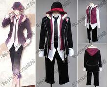 DIABOLIK LOVERS Laito Sakamaki Uniform Black Jacket Shirt Tie For Men Anime Halloween Cosplay Costume Custom Made