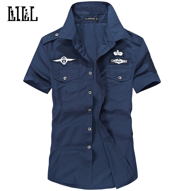 Pure Cotton Military Pilot Men 39 S Shirt Breathable Army