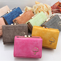 W37 New Hot Fashion Women Leather Wallet Button Clutch Candy Colors Purse Lady Short Wallet Cards Holder Wallet For Girls