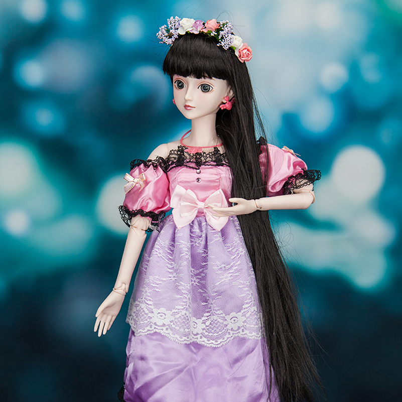60cm Princess Bjd Doll 1/3 High Quality Resin Body BJD SD Dolls Clothes Eye Toy Fantasy Dress Makeup Reborn Girls Toys for Girls handsome grey woolen coat belt for bjd 1 3 sd10 sd13 sd17 uncle ssdf sd luts dod dz as doll clothes cmb107