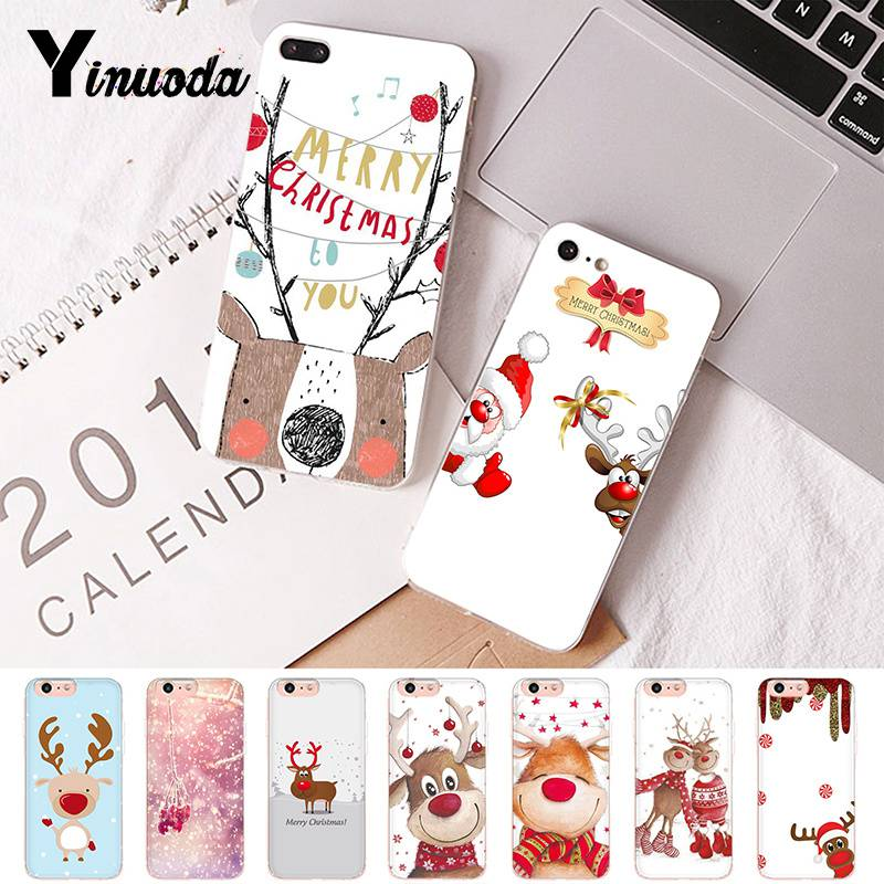 Yinuoda For iphone 7 XSMAX Case Merry Christmas Santa Claus Coque Shell Phone Case For iPhone8 7 6 6S Plus X 5 5S SE XR XS XSMAX in Half wrapped Cases from Cellphones Telecommunications