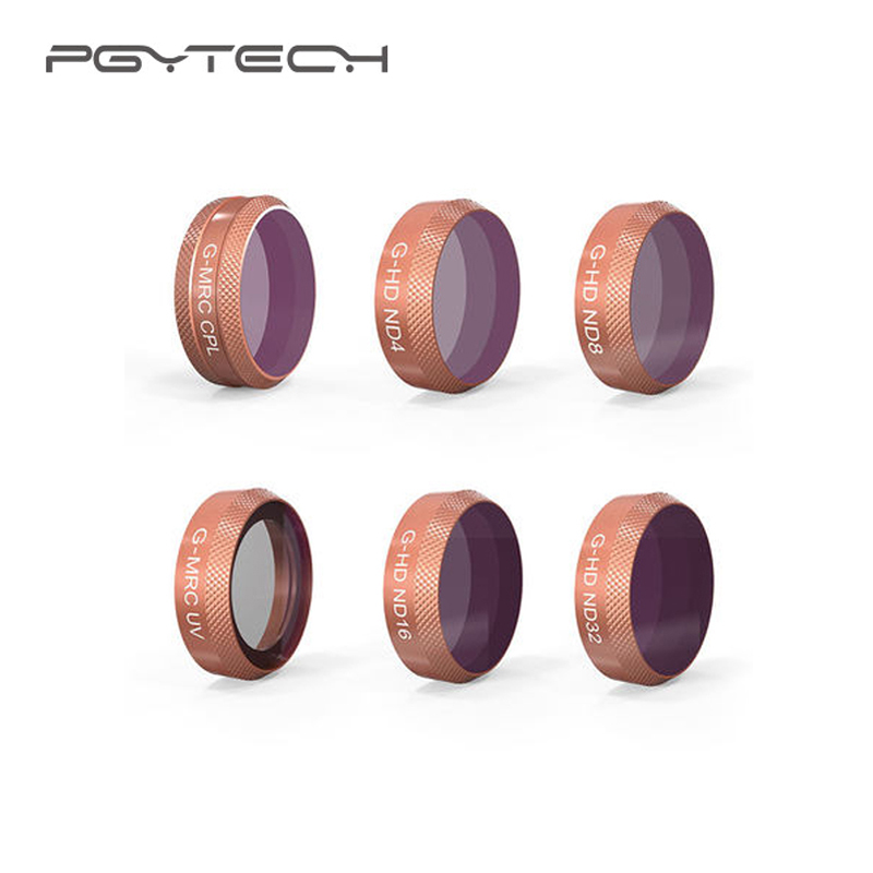 PGYTECH Mavic Air Lens Advanced HD Filter Kits MRC-UV MRC-CPL ND4 ND8 ND16 ND32 ND64 Filter for Mavic Air Camera Accessories pgytech mavic air filter for dji mavic air mrc uv nd64 nd64pl mrc cpl filter for dji mavic air camera lens filter accessory