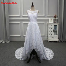 2018 Customized O-Neck Sleeveless Court Train Wedding Dress