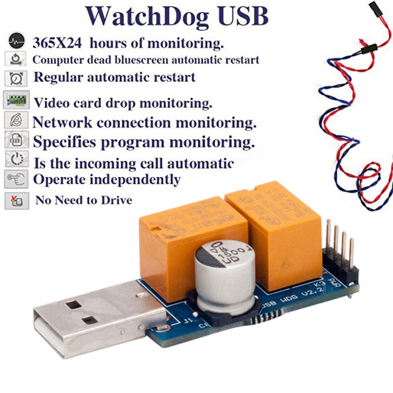USB Watchdog Timer Card Module Automatic Restart IP Electronic Reboot for PC Computer