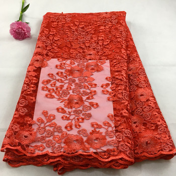red african lace fabric 2019 high quality lace french mesh fabric beaded stones nigerian swiss lace fabrics for dressLHx10C