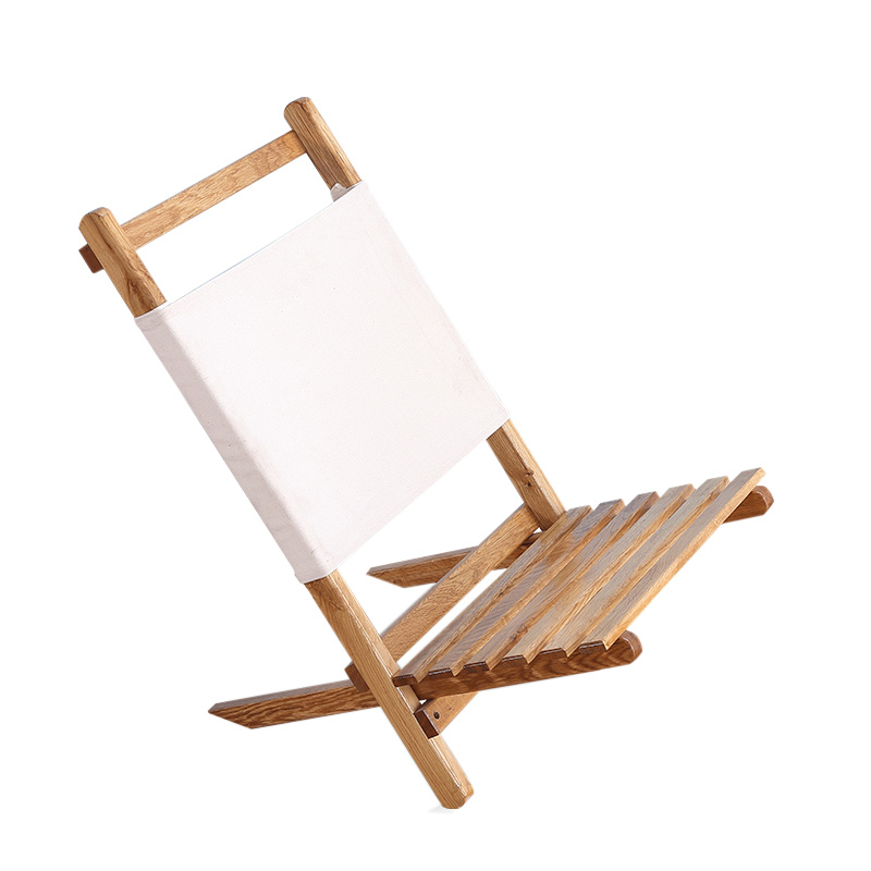 Portable Foldable Wooden Chair Lounger For the Beach, RV Camping and Outdoor Furniture Folding Fishing Chair Seat Stool Camp