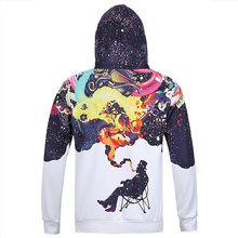 Mr.1991INC New Arrivals Men's Long Sleeve Autumn Winter Pullovers Funny Print Smoking Person Hoody Casual Hoodies With Cap