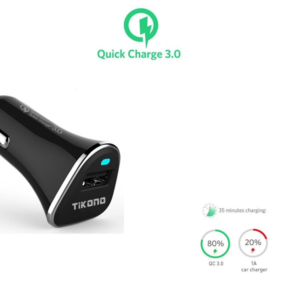 Tikono Qualcomm Quick Charge 3.0 5V 3A Snabb USB-billaddare för - Reservdelar och tillbehör för mobiltelefoner - Foto 5