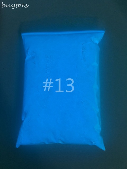 Luminous Glow Powder Super Bright 13 Blue Fluorescent Diy Paint Materials Pigment Noctilucent