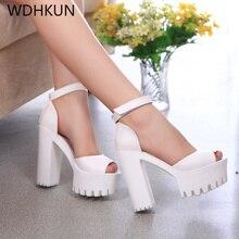 Platform shoes High heels women shoes zapatos mujer lolita shoes women pumps 2019 new fashion ladies shoes Fish head high heel недорго, оригинальная цена
