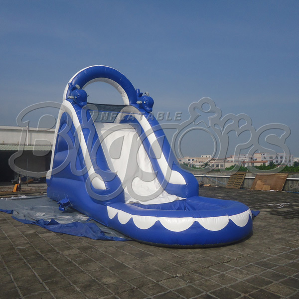 FREE SHIPPING BY SEA Popular Commercial Inflatable Water Slide Inflatable Jumping Slide With Pool 6 4 4m bounce house combo pool and slide used commercial bounce houses for sale